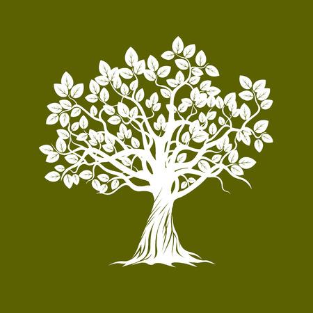 Białe drzewo. Ilustracja wektorowa. Ilustracje wektorowe