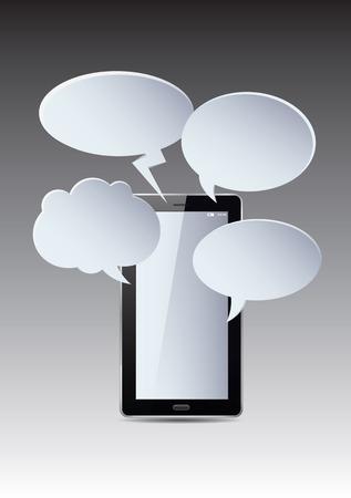 ballons: Smart phone and ballons. Vector Illustration. Illustration