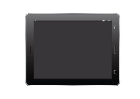 tablet vector: Illustration of black tablet. vector device