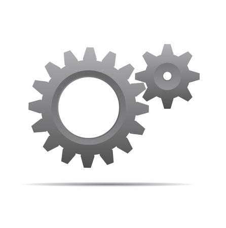 grey: Grey Illustration of Gears