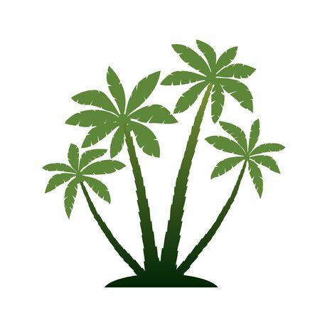 bole: Green Vector Palm Trees