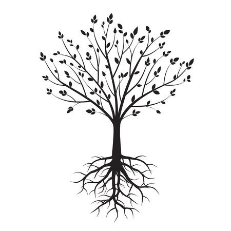 Árbol negro. Ilustración del vector. Ilustración de vector