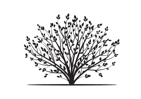 Black Bush. Vector Illustration.