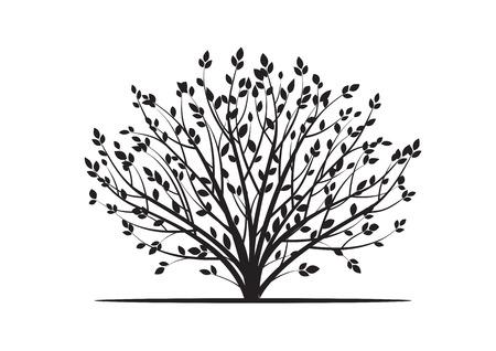 sketched shapes: Black Bush. Vector Illustration.