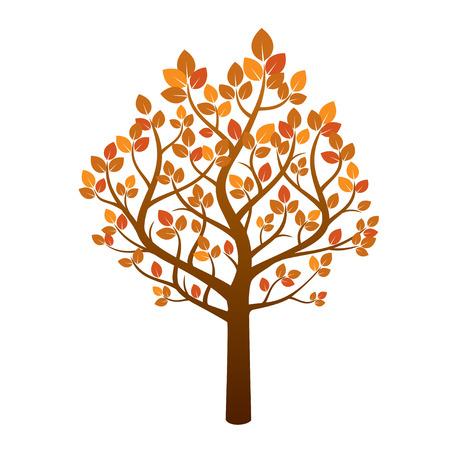 Farbe Herbst-Baum. Vektor-Illustration. Vektorgrafik