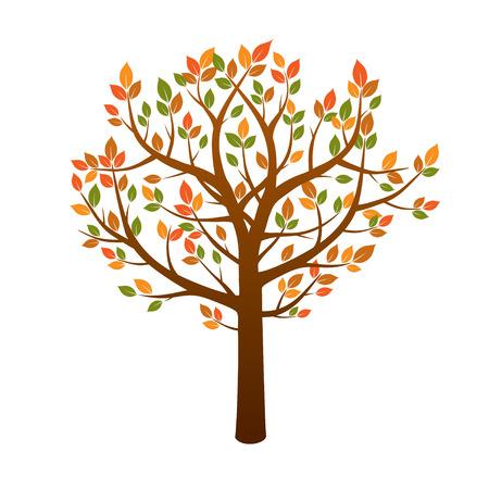 sketched shapes: Color Autumn Tree. Vector Illustration. Illustration