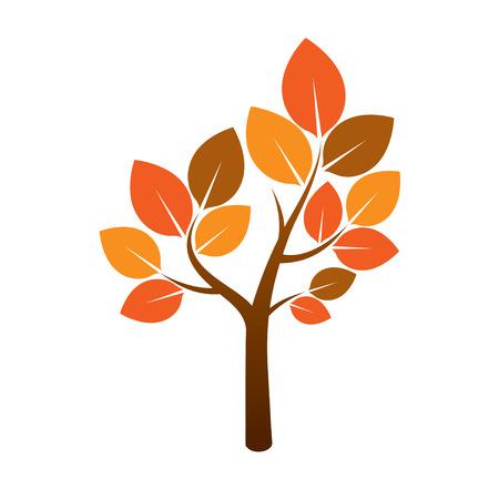 A colori Albero di autunno. Illustrazione vettoriale. Archivio Fotografico - 59589888