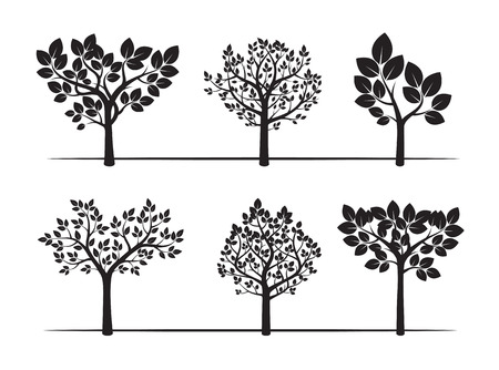 sketched shapes: Collection of Trees. Vector Illustration. Illustration