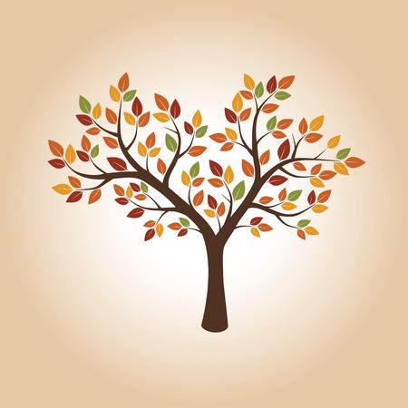 autumn tree: Shape of Autumn Tree. Vector Illustration. Illustration