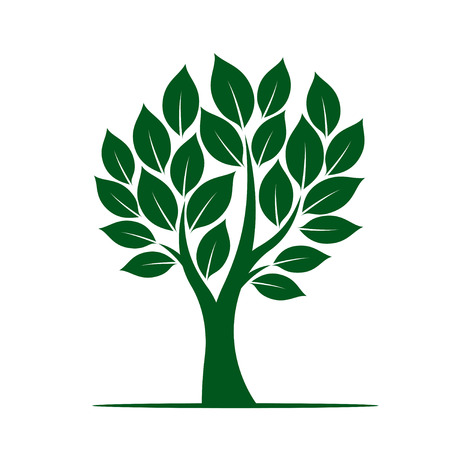 Shape of Green Tree. Vector Icons and graphic elements. Vectores