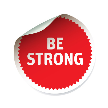 be: Vector sticker and text be strong