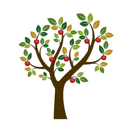 Color Apple Tree Fruits ans Illustration. De natuur en de tuin