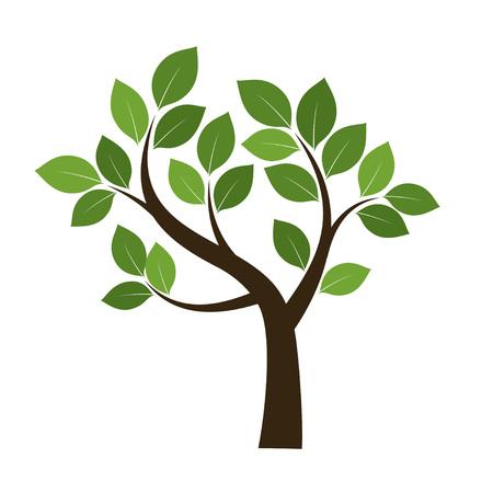 Green Tree. Vector Illustration. Vettoriali