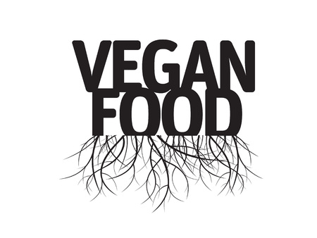 vegan food: Vegan Food and Roots. Vector Illustration and Graphic Element. Illustration