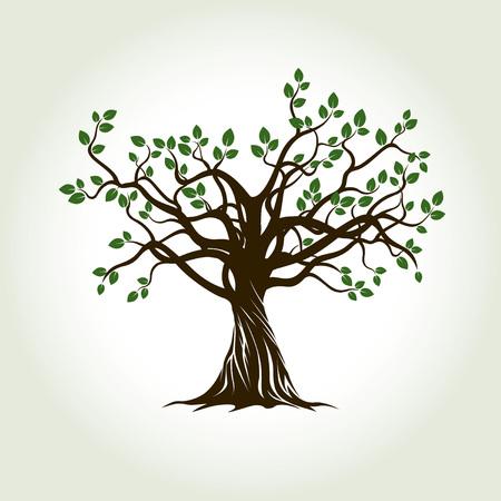 Baum mit Wurzeln. Vektor-Illustration.