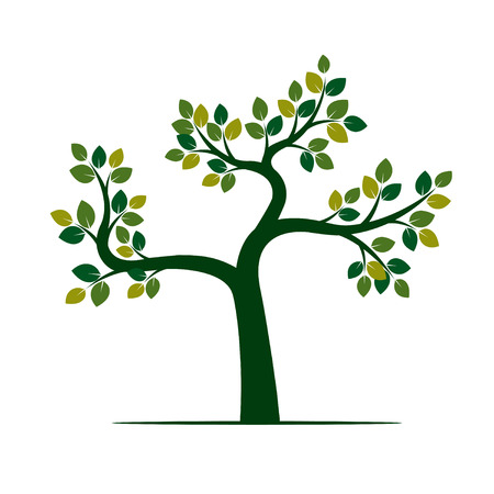 Grüner Baum. Vektor Illustration und Naturelement. Vektorgrafik