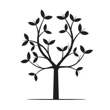 forme: Forme d'arbre noir. Vector Illustration.