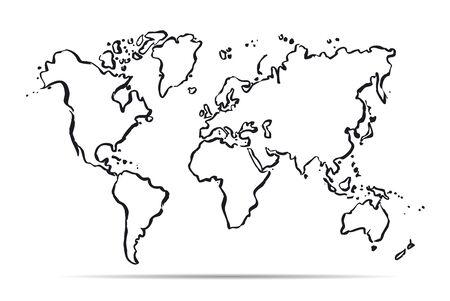 世界の概要地図
