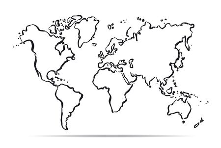 Outline map of The World