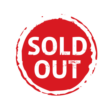 Red stamp sold out vector illustration.