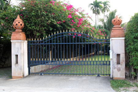 Metal Gate for House and propertis. Stockfoto