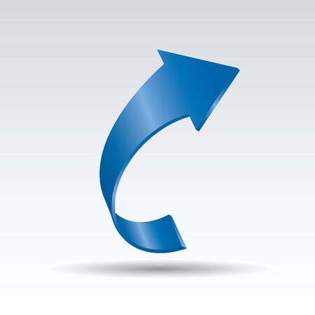 Blue vector arrows 3d. Graphic element for web and design. Outline illustration.