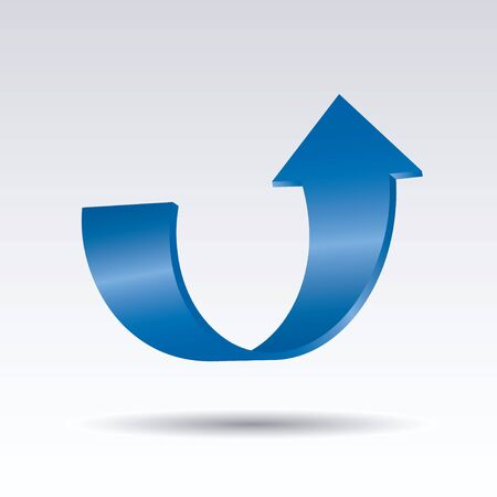 Blue vector arrows 3d. Graphic element for web and design. Outline illustration. Stock fotó - 131426029