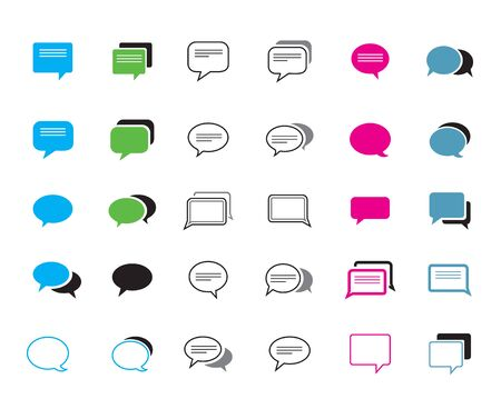 Set of color comic speech bubbles. Vector Illustration and graphic elements.