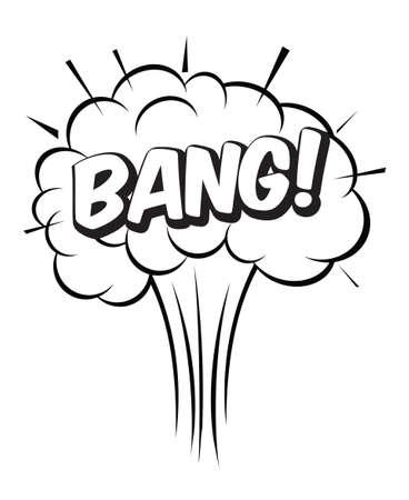 Comic speech balloon and Bang, explosion bubble. Vector Illustration. Vector Illustration