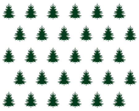 Seamless pattern. Christmas and winter holidays design. Isolated vector Christmas Tree Icons and Illustration.
