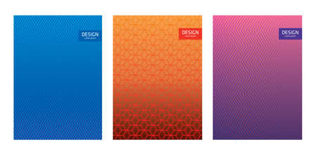 Geometric abstract background for catalog, corporate brochure. Vector pattern and graphic design. Cover template set.