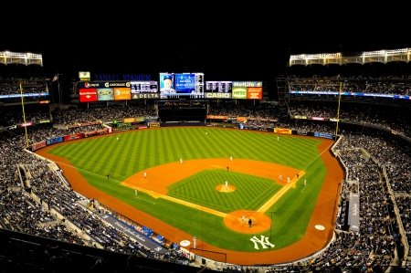 baseball stadium: New York, NY, USA - May 12, 2011: Kansas City Royals v New York Yankees at Yankee Stadium