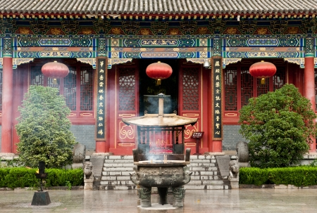 Historic Famen Temple in Shaanxi province, China Stock Photo