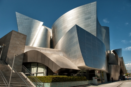 Los Angeles, CA, USA - September 23, 2012: Walt Disney Concert Hall in downtown Los Angeles. The world famous concert hall designed by Frank Gehry is the home of Los Angeles Philharmonics.