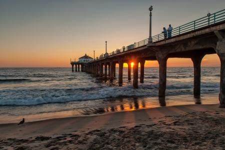 Sunset at Manhattan Beach, Los Angeles, CA