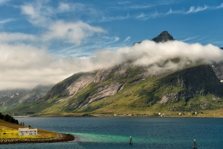 Clouds over Lofoten in northern Norway photo