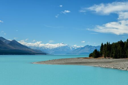 Lake Pukaki and Mount Cook, New Zealand photo