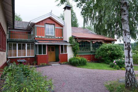 lilla: Sundborn, Sweden - July 4, 2013  The world famous home of Swedish artists Carl and Karin Larsson at Lilla Hyttnas in Sundborn, Sweden  Editorial
