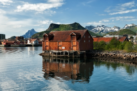 Old warehouse at Svolvaer, Lofoten