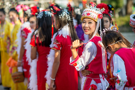 Hua Hin, Thailand - January 30, 2014  The Chinese New Year celebrated in Hua Hin  In Thailand New Year is celebrated on three occasions � the Gregorian, the Chinese and Songkran