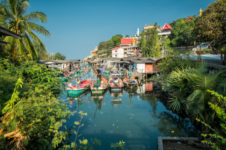 Khao Tao - an idyllic fishing village south of Hua Hin in Thailand  The Thai royal family summer palace is located in Khao Tao