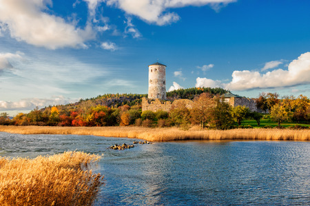 Stegeborg � a famous castle ruin in Sweden dating back to the 13th century photo