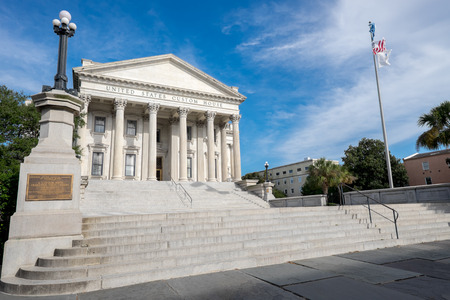 sc: Charleston, SC, USA - October 13, 2014: United States Custom House in Charleston, SC. The building was completed in 1879 and still functions as originally intended. Editorial
