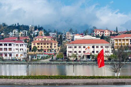 cultural diversity: Sapa Lake in Sapa, Vietnam. Sapa is famous for its rugged scenery and its cultural diversity. Editorial