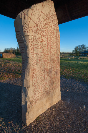 vikings: Written in stone by Vikings: The Rok runestone from the 9th century features the longest known runic inscription  760 characters. It is also considered the oldest piece of Swedish literature.