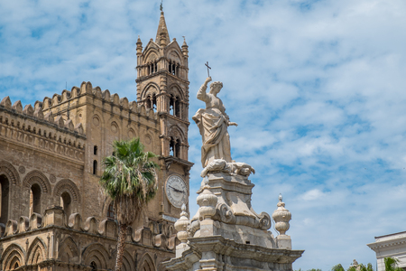 subsequent: The Cathedral in Palermo, Sicily. The cathedral was built in 1185 and is characterized by various styles due to subsequent additions