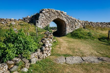 iron: Graborg - the largest ancient fortification on Swedish Baltic Sea island Oland. The oldest parts of the fortification were built in the 6th century.