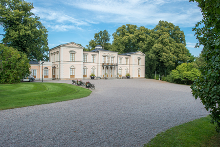 retreat: Stockholm, Sweden  August 24, 2015: Rosendal Palace is a Royal Castle at Djurgarden in Stockholm. It was built in the 1820s for the first Bernadotte king as a summertime pleasure retreat.