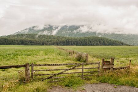 anau: New Zealand countryside in the vicinity of Te Anau on the west coast of South Island