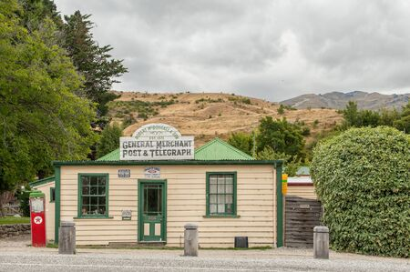 gold rush: Cardrona, New Zealand - February 13, 2012: Vintage post office in scenic Cardrona, Central Otago. Cardrona was established during the gold rush in the 1860s. Editorial